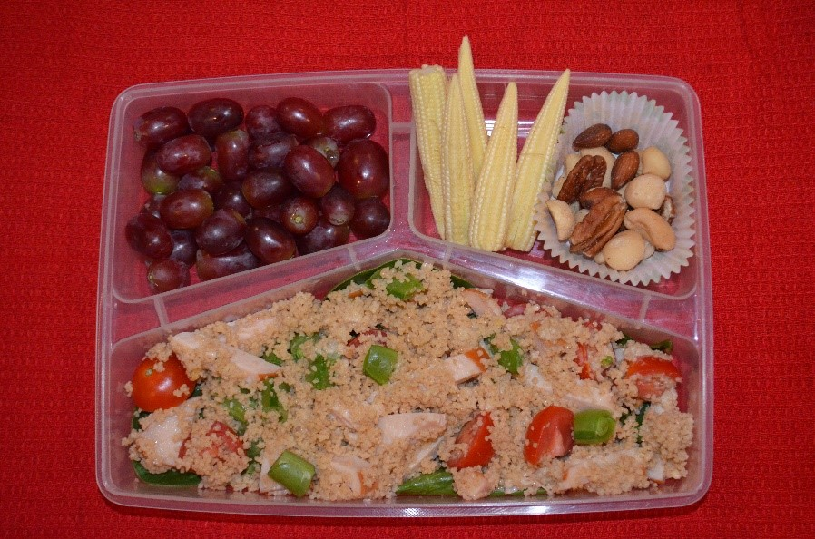 Whole wheat Couscous chicken salad